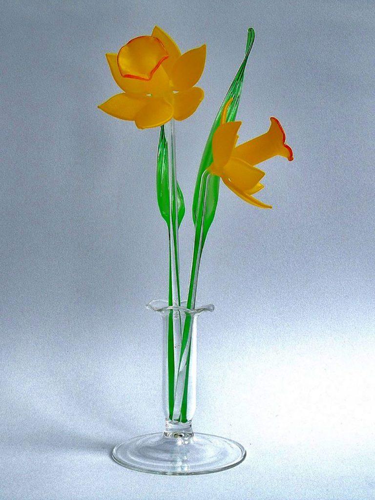 Glassblobbery - Glass Daffodil Set