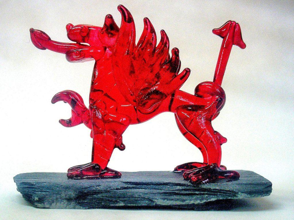 Glassblobbery - Large Welsh Dragon