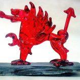 Glassblobbery – Mini Glass Welsh Dragon on Slate