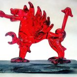 Glassblobbery – Mini Glass Welsh Dragon on Slate