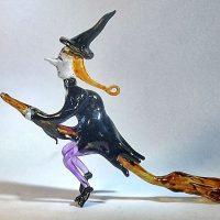 Glassblobbery – Glass Witch On A Broom